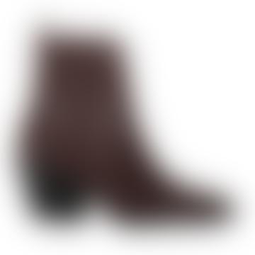Dark Brown Croco Lija Boot