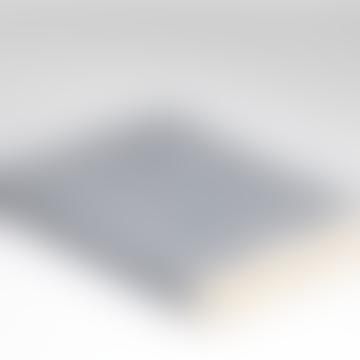 McNutt of Donegal Spotted Grey Blue Herringbone Merino Wool Soft Throw