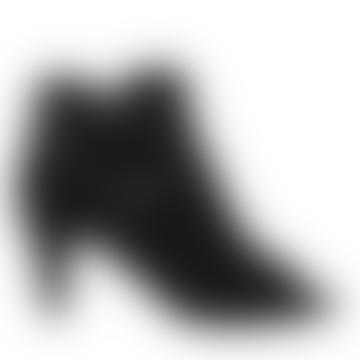 Black Open Rivets Boot
