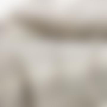 Afroart Grey White Lemongrass Bed Cover 250 x 270cm