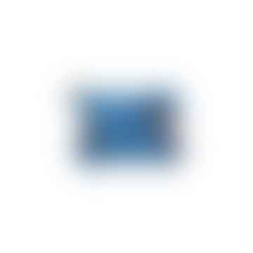 Blue Zebra Applique Coin Purse