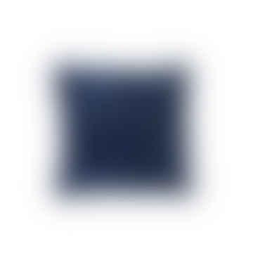 Dark Blue Velvet Cushion