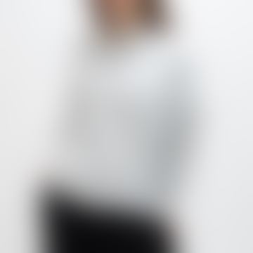 Chalk UK Soft Knit Hooded Sweatshirt Light Grey