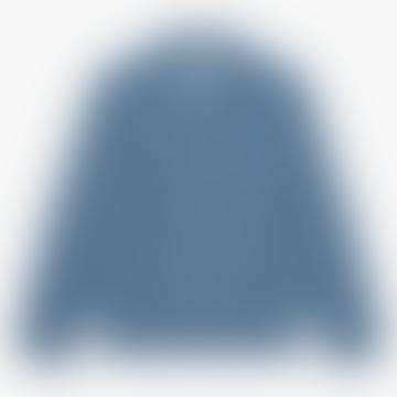 Indigo Stonewash Fisher Stripe Chore Shirt