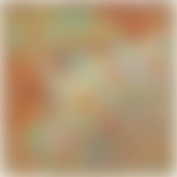 Sunset Art Deco Swirl Silk Scarf