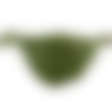 Hand Painted Glazed Earthenware Banana Leaf Salad Bowl 37cm