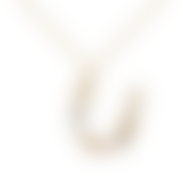 Sparkling Initial Necklace Gold Letter U