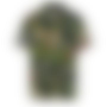 Akleo Leopard Cuban Collar S S Shirt
