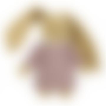 Trousselier Old Pink Linen Musical Rabbit Doudou