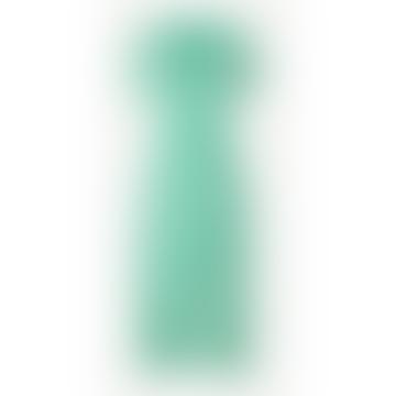 Klea Long Dress - Mint and White Flowers