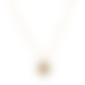 Handmade Simple Dahlia Pendant Gold