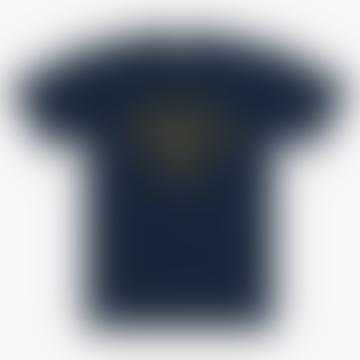 Dusty Blue Varsity T Shirt