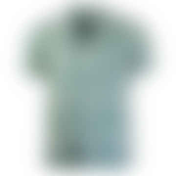 Selleck Short Sleeved Linen Shirt Salines Green