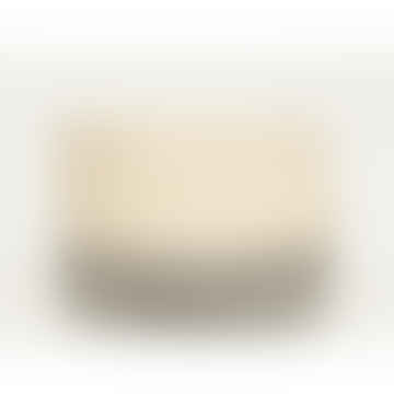 Grey and White Itale Block Basket Medium