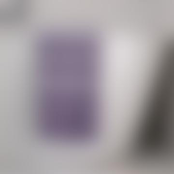 Dark Purple and White Hammam Towel