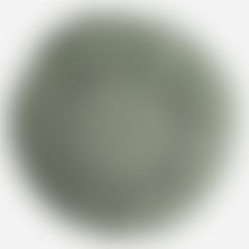 Helles jadegrünes rundes Leinenkissen