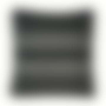 Black Cotton Native Stripe Cushion