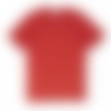 Oliver Spencer Conduit Stripe Tee In Capri Red