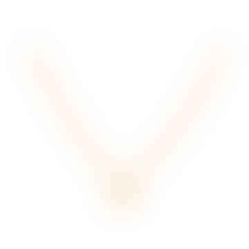 Small Note Gold necklace with a small letter pendant N
