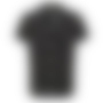 Selected Homme Cuban Collar Shirt - Black Dot Print