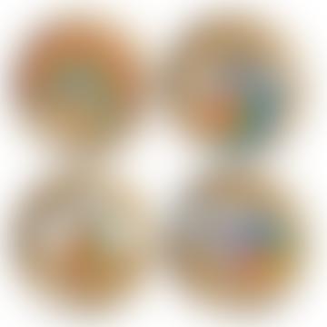 Jonathan Adler Multicolor POP Coasters Set