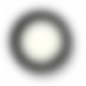 LOT DE 2 ASSIETTES D17,5 CM BLANCHE / NOIR VAR 4