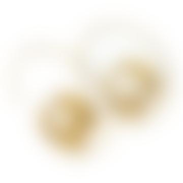 Gold Curl Hoop Earrings