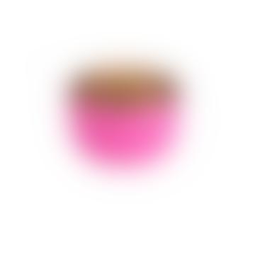 Madras candleholder hot pink/nudegold