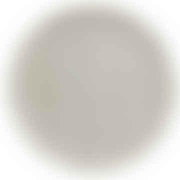 Nuukk Set of 2 BAMBOO PLATES White Grid dia 20cm