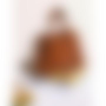 Mittlere Umhängetasche aus Cognac-Rindsleder