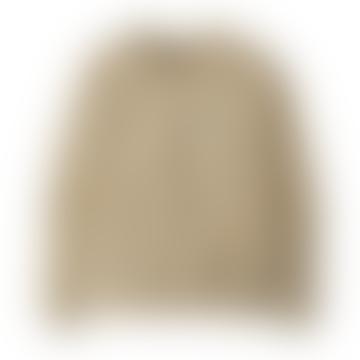 Oyster White Pastel P-6 Label Ahnya Crew Sweatshirt