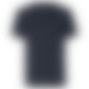 Dark Navy Pique T Shirt