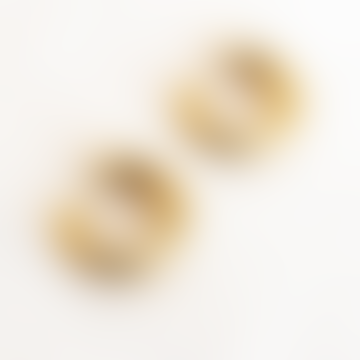 Busby & Fox Gold Chunky Hoop Earrings