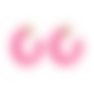 Anna + Nina Jellybean Earrings Fuchsia Pink