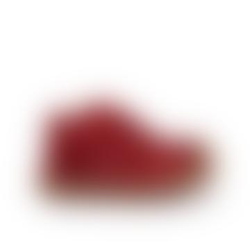 Red Velcro Fastener Winter Shoe