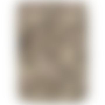 Brown Cotton Flower Quilt Blanket