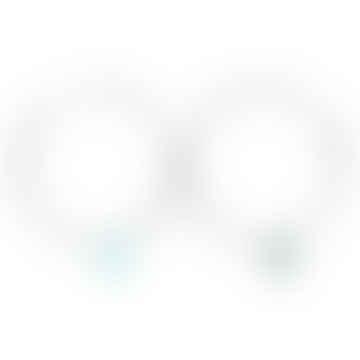 925 Silver Chrysophrase Hoop Earrings