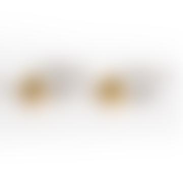 Busby & Fox Gold Silver Ball Drop Earrings