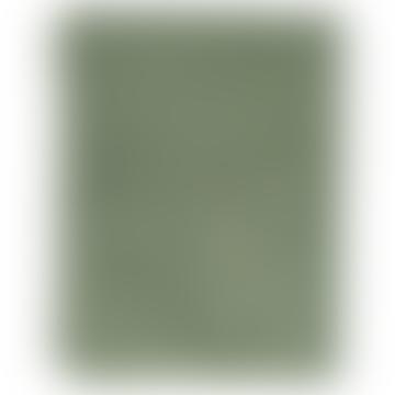 Couverture à carreaux double coton vert tissé