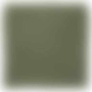 Serviette double en coton vert tissé