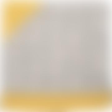 Couverture à capuche bébé Juwel Elephant gris et jaune