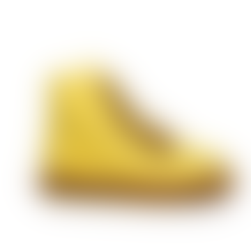 Dulis Yellow High Leather Sneakers