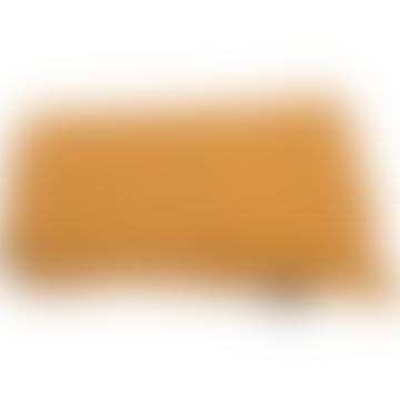 David Fussenegger Mustard Cotton Waffle Vigo Blanket