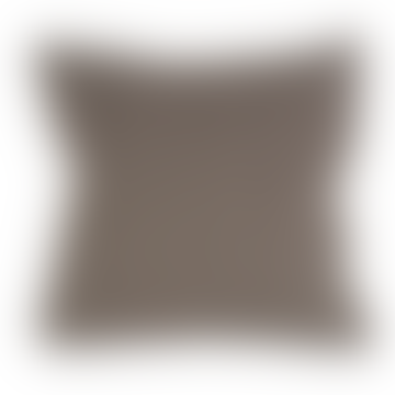 Grand Illusions Woven Tweed Cushion Cover Brown Taupe / Black 45cmx45cm