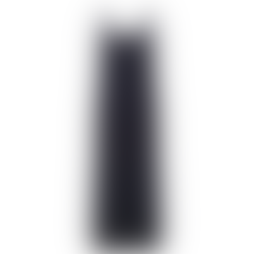 Long Black Tencel Triangle Midi Dress