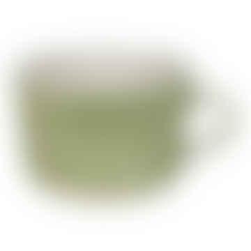 Irish Green Wash Squat Style Ceramic Mug