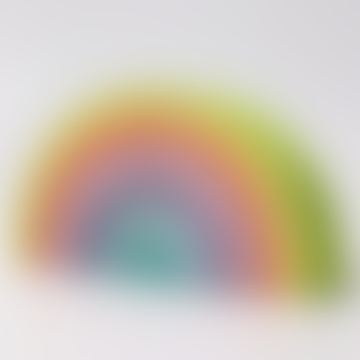 Set of 12 Large Pastel Rainbow Wood Waldorf Toy