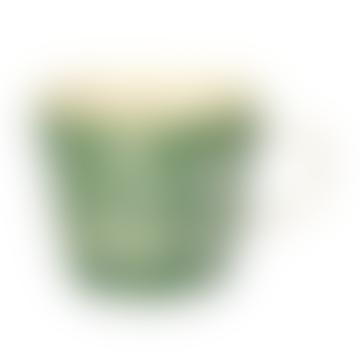 Gisela Graham Green Leaves Silhouette Ceramic Mug