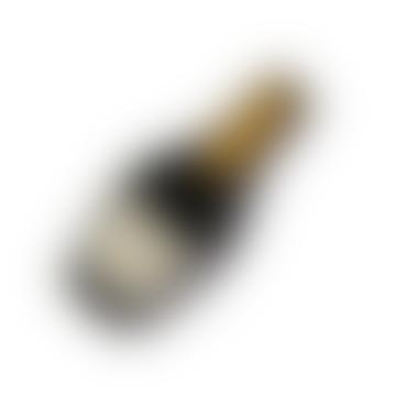 Black Champagne Bottle Brooch