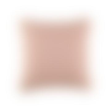 38 x 38cm Coral Pink Zig Zag Cushion